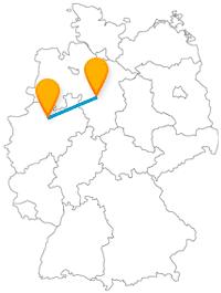 Lernen Sie auf der Reise mit dem Fernbus zwischen Hannover und Münster falsche und echte Schlösser kennen.