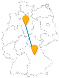 Die Fahrt mit dem Fernbus zwischen Hannover und Nürnberg bringt Sie neben Burgbesichtigungen auch zu spannenden Tiererlebnissen.
