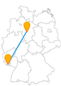 Wenn Sie alte Architektur interessiert, sitzen Sie im Fernbus zwischen Hannover und Saarbrücken genau richtig.