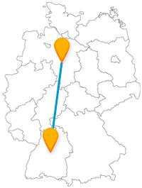 mit dem Fernbus von Hannover nach Stuttgart
