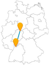 Verbinden Sie mit dem Fernbus zwischen Heidelberg und Kassel tolle Gemälde mit einer tollen Aussicht.