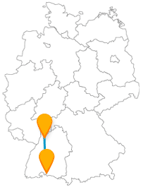 Freuen Sie sich auf der Fahrt im Fernbus von Heidelberg nach Konstanz auf ein schönes Hafenerlebnis.