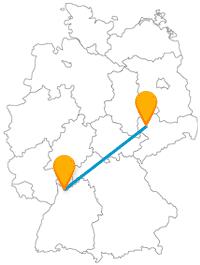 Eine Fahrt im Fernbus zwischen Heidelberg und Leipzig bringt Sie nicht nur zu sehenswerte Schlösser.