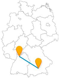 Setzen Sie sich in den Heidelberg München Bus und genießen Sie die Vielfalt dieser beiden Städte.