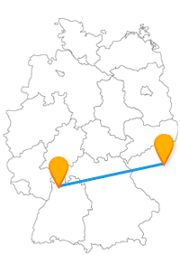 Nach der Fahrt im Fernbus zwischen Heidelberg und Prag können Sie auch einige Attraktionen zu Fuß besichtigen.