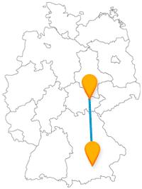 Entdecken Sie auf Ihrer Reise im Fernbus zwischen Jena und München den Sternenhimmel und gönnen sich ein Sieger-Eis.