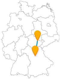 Die Reise mit dem Fernbus von Jena nach Nürnberg ist vielleicht besonders für Kinder interessant.