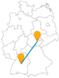 Mit der Reise im Fernbus von Jena nach Stuttgart laufen Sie zwei Dichtern mehr oder weniger über den Weg.