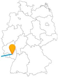 Die Reise mit dem Fernbus zwischen Kaiserslautern und Paris ist allein schon eine große Gartenschau.