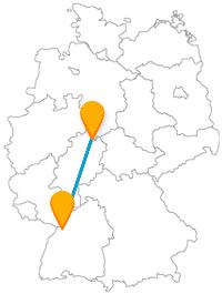 Ob Kunst, Natur oder Sehenswürdigkeiten aus Stein, die Reise mit dem Fernbus zwischen Karlsruhe und Kassel bietet alles.