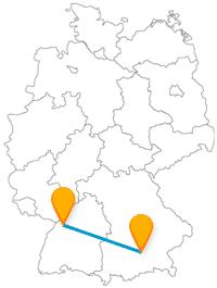 Machen Sie mit dem Fernbus Karlsruhe München einen Ausflug zwischen der Fächerstadt und der bayrischen Hauptmetropole.