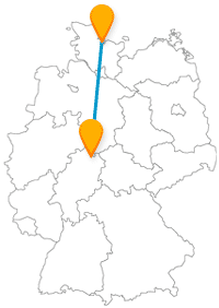 Eine Fernbusreise zwischen Kassel und Kiel führt Sie auch zu ganz anderen Fortbewegungsmitteln.