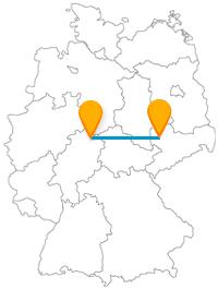 Ob komische Kunst oder Schlachtdenkmal, die Reise mit dem Fernbus zwischen Kassel und Leipzig ist in jedem Fall interessant.