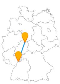 Lernen Sie mit dem Fernbus zwischen Kassel und Mannheim Kontraste kennen.