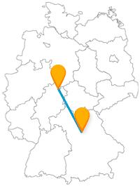 Ob Theater, das keines mehr ist, oder eine Fleischbrücke, die Fernbusreise zwischen Kassel und Nürnberg hält ein paar Überraschungen bereit.