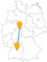Die Reise mit dem Fernbus von Kassel nach Stuttgart ermöglicht ein abwechslungsreiches Naturerlebnis.