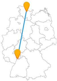Auf der Reise mit dem Fernbus Kiel Mannheim können Sie zu Fuß viel Natur und weite Landschaften genießen.