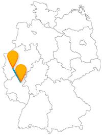Der Fernbus zwischen Koblenz und Köln bringt Sie in eine Stadt, wo zwei Flüsse zusammenfließen und in eine Stadt, wo es herrlich duftet.