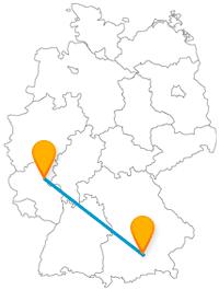 Auch auf einer Fernbusreise von Koblenz nach München kann man wandern gehen.
