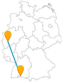 Blumig romantisch oder lieber abenteuerlich hoch hinaus? Mit dem Fernbus zwischen Köln und Konstanz können Sie beides haben.