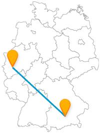Der Fernbus Köln München pendelt zwischen zwei feierfreudigen Metropolen.