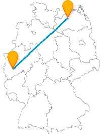 Die Fernbusreise zwischen Köln und Rostock kann in einem kulinarischen Gaumenschmaus enden.