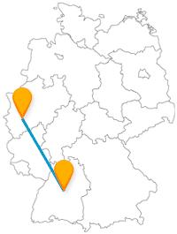 Schon allein die bunte Vielfalt an Sehenswürdigkeiten lohnt eine Reise im Fernbus Köln Stuttgart.