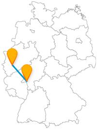 Die Reise mit dem Fernbus zwischen Köln und Wiesbaden bringt Sie zu prunkvollen Bau- und christlichen Kunstwerken.
