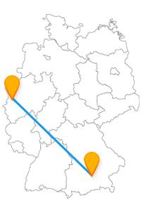 Wasser- und Nymphenburg, nichts leichter als diese beiden mit dem Fernbus Krefeld München zu besuchen.