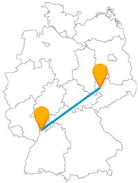 Erleben Sie auf Ihrer Reise mit dem Fernbus von Leipzig nach Mannheim Sehenswürdigkeiten aus der Renaissance und viel Natur.