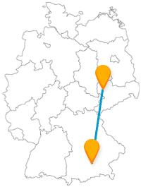 Nehmen Sie den günstigen Fernbus von Leipzig nach München