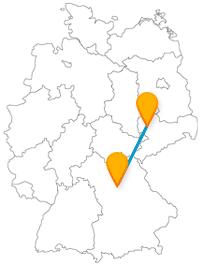 Auf Ihrer Reise mit dem Fernbus zwischen Leipzig und Nürnberg erwarten Sie ein Museum zur Stadtgeschichte und ein kunstreiches Quartier.