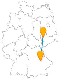 Erreichen Sie mit dem Fernbus zwischen Leipzig und Regensburg sehr alte, historische Sehenswürdigkeiten.