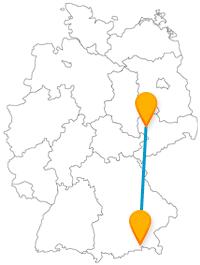 Stadtattraktionen oder Natur pur, die Reise mit dem Fernbus von Leipzig nach Rosenheim verbindet beides.