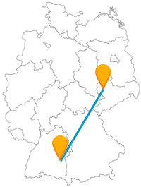 Nach der Fernbusfahrt von Leipzig nach Ulm oder umgekehrt kann es auch mal zu Fuß weitergehen.