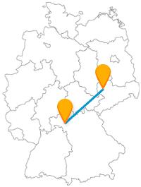 Nach der Reise mit dem Fernbus zwischen Leipzig und Würzburg werden Sie viel Historisches kennenlernen.