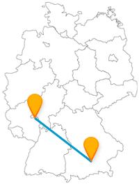 Ein Fahrt mit dem Fernbus von Mainz nach München zu zwei stimmungsfreudigen Städten