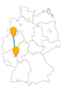 Die Fahrt im Fernbus zwischen Mainz und Münster lädt nach Ankunft zum Bummeln und Schlendern ein.
