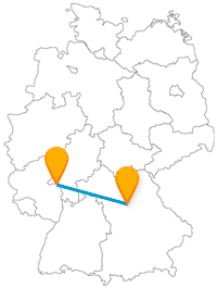 Vielleicht müssen Sie Ihre Wahl zwischen den Sehenswürdigkeiten auf der Reise mit dem Fernbus zwischen Mainz und Nürnberg vom Wetter abhängig machen.