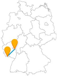 Historisch italienisches Flair oder barocker Stil? Die Reise mit dem Fernbus zwischen Mainz und Saarbrücken verbindet beides.