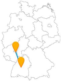 Erleben Sie auf der Reise mit dem Fernbus zwischen Mainz und Tübingen drei Attraktionen in einem Bauwerk oder entdecken besonders wertvolle Bücher.