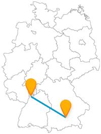 Der Fernbus Mannheim München eignet sich immmer gut für ein Pendeln zwischen Bayer und Baden-Württemberg.