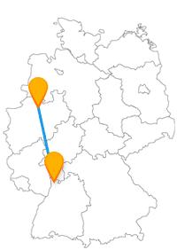 Natur und Technik, auf der Reise mit dem Fernbus zwischen Mannheim und Münster können Sie beides haben.