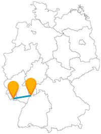 Die Reise im Fernbus zwischen Mannheim und Saarbrücken lässt zum einen eine verspielte und zum anderen eine sehr durchstrukturierte Stadtbesichtigung zu.