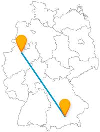 Finden Sie auf Ihrer Reise mit dem Fernbus von München nach Münster einen Englischen Garten und Tausende von Tieren.