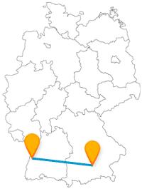 Ob Kloster oder Innenstadtschloss, der Fernbus zwischen München und Offenburg fährt Sie an sehenswerte Orte.