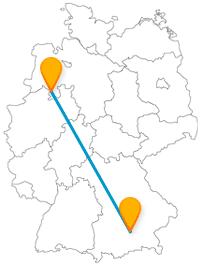 Die Fernbusreise von München nach Osnabrück bringt Sie zu einem bekannten Haus mit historischem Hintergrund.