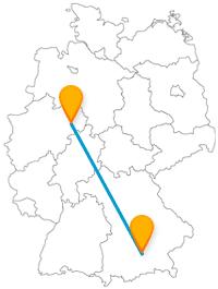 Die Reise im Fernbus zwischen München und Paderborn ist für Wellnessfreunde und auch für Kinder ein Erlebnis.