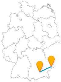 Drei Flüsse und ein berühmter Großmarkt lohnen die Fahrt im Fernbus zwischen München und Passau.