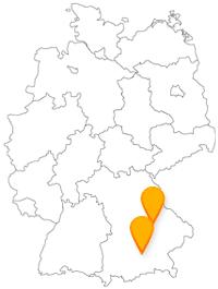 Entspannen Sie sich nach Ihrer Reise im Fernbus zwischen München und Regensburg in vielen Grünanlagen.